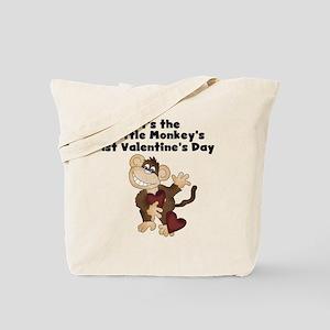 Monkey 1st Valentine's Day Tote Bag