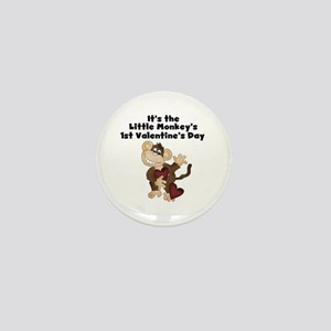 Monkey 1st Valentine's Day Mini Button