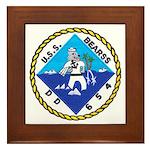 USS BEARSS Framed Tile