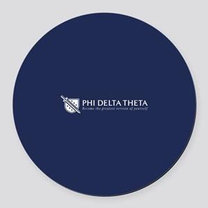 Phi Delta Theta Grestest Version Round Car Magnet