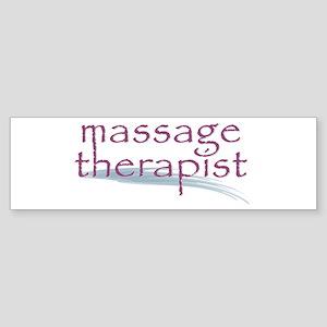 Massage Therapist Sticker (Bumper)