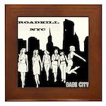 Roadkillnyc Babe City Framed Tile