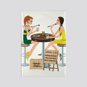 Packers Sushi Girls Rectangle Magnet