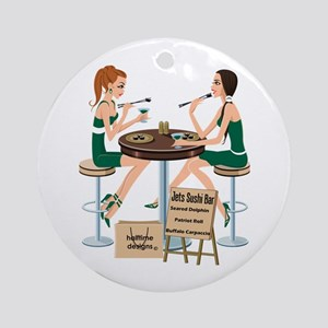 Jets Sushi Girls Ornament (Round)