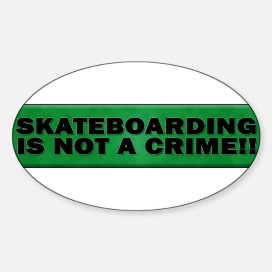 Cute Crime Sticker (Oval)