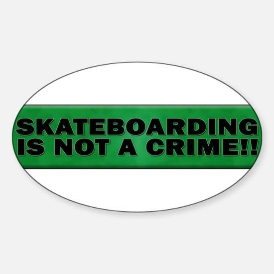 Cute Skate boarding Sticker (Oval)