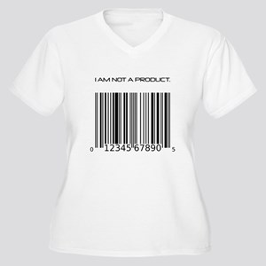 I Am Not A Product Barcode Women's Plus Size V-Nec