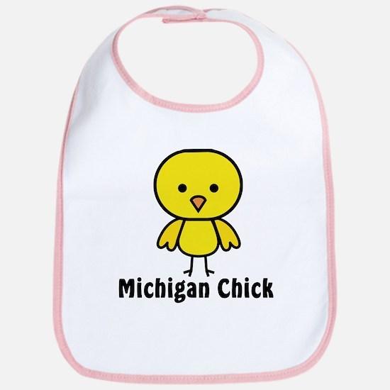 Michigan Chick Bib