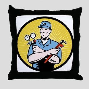 ac serviceman repairman Throw Pillow