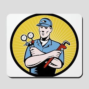 ac serviceman repairman Mousepad