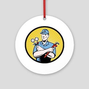 ac serviceman repairman Ornament (Round)