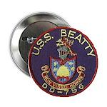 """USS BEATTY 2.25"""" Button"""