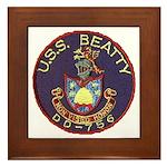 USS BEATTY Framed Tile