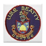 USS BEATTY Tile Coaster