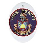 USS BEATTY Ornament (Oval)