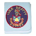 USS BEATTY baby blanket