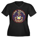 USS BEATTY Women's Plus Size V-Neck Dark T-Shirt