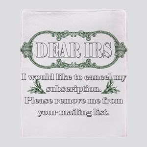 Dear IRS Throw Blanket