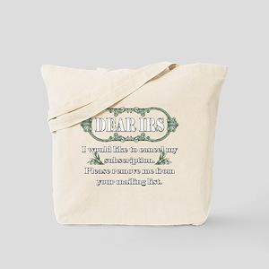 Dear IRS Tote Bag