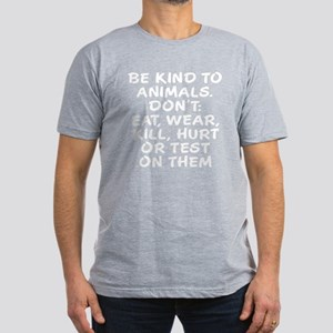 Be kind to animals Men's Fitted T-Shirt (dark)