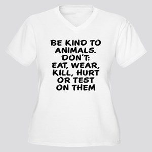 Be kind to animals Women's Plus Size V-Neck T-Shir