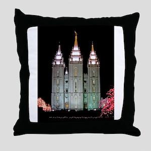 SLC Temple Throw Pillow