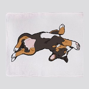 Sleeping Bernese Mountain Dog Throw Blanket