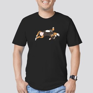 Sleeping Bernese Mountain Dog Men's Fitted T-Shirt