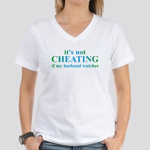 Husband Watches... Women's V-Neck T-Shirt