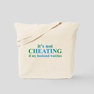 Husband Watches... Tote Bag