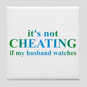 Husband Watches... Tile Coaster
