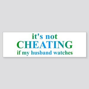 Husband Watches... Sticker (Bumper)