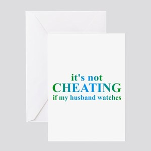 Husband Watches... Greeting Card