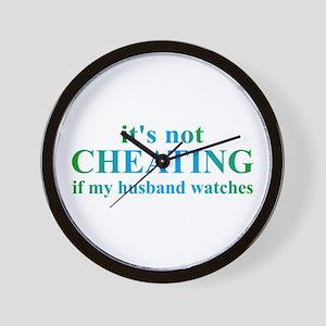 Husband Watches... Wall Clock