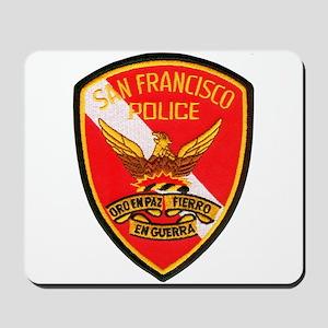 San Francisco Police Dive Tea Mousepad