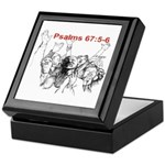 Psalms 67:5-6A Keepsake Box