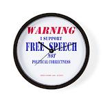Free Speech Support Wall Clock