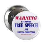 """Free Speech Support 2.25"""" Button (10 pack)"""