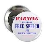 """Free Speech Support 2.25"""" Button"""