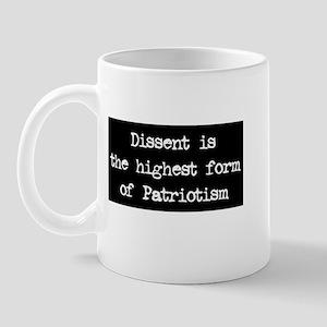 Dissent is Patriotism Mug