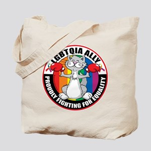 LGBTQIA Ally Cat Tote Bag