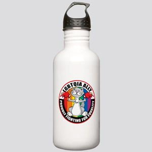 LGBTQIA Ally Cat Stainless Water Bottle 1.0L