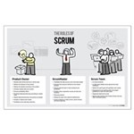 Roles of Scrum (Female ScrumMaster) Large Poster