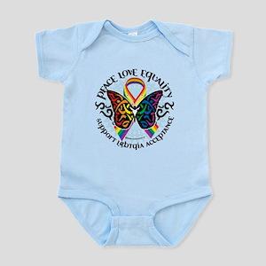 LGBT Peace Love Equality Infant Bodysuit