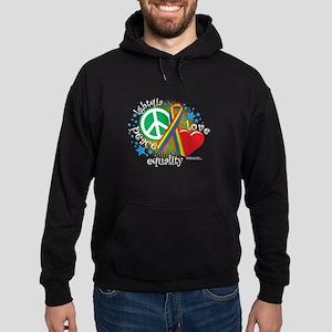 LGBTQIA Peace Love Equality Hoodie (dark)