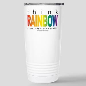 LGBTQIA Think Rainbow Stainless Steel Travel Mug