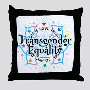 Transgender Lotus Throw Pillow