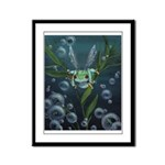 Wishing Frog Framed Panel Print
