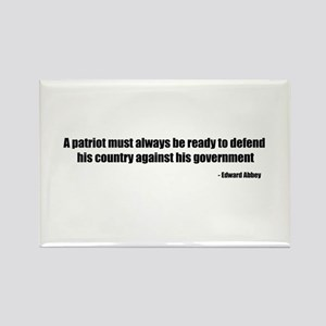 Defend Quote Rectangle Magnet