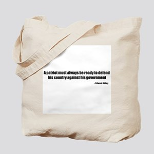 Defend Quote Tote Bag